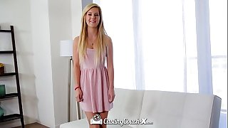 CastingCouch-X - Beautiful Bella Rose takes a facial cumshot from the casting agent