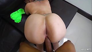 Meaty ass chick boinked by a BBC