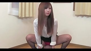 Asian woman facesitting handjob
