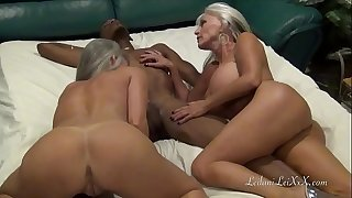 Web cam Show Fun with 2 Milfs and a Thick black dick